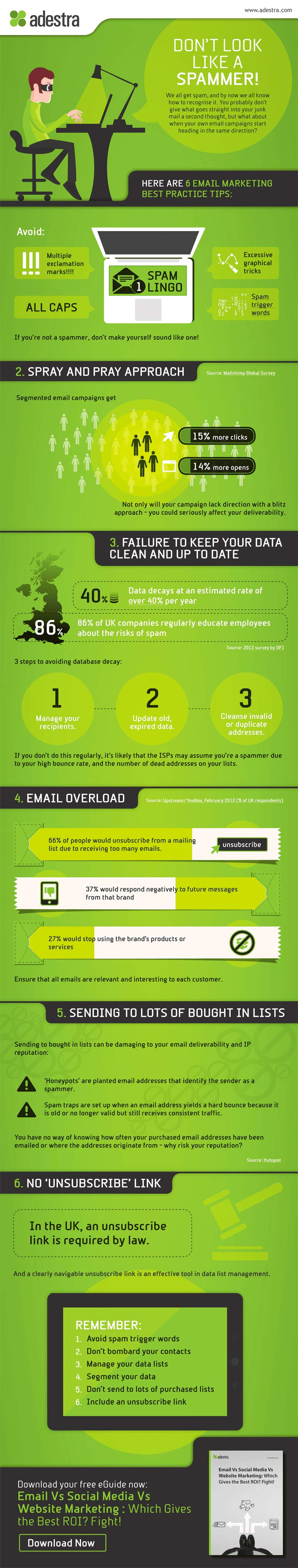 6 errori da non commettere mai nell'email marketing